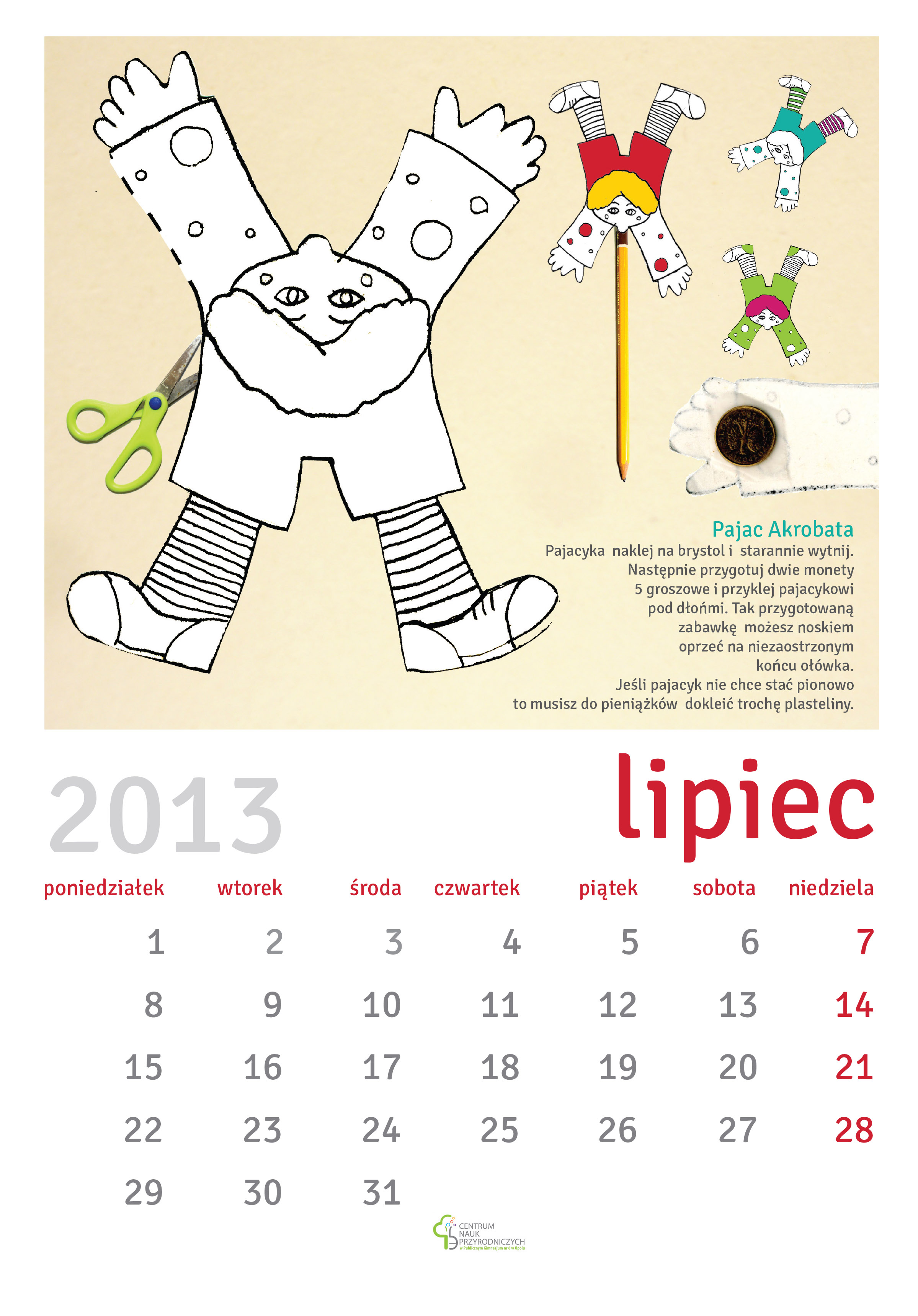 Calendar maria bitka calendar cards designed for opole sciences centre each card includes a do it yourself task from the domain of life sciences solutioingenieria Gallery