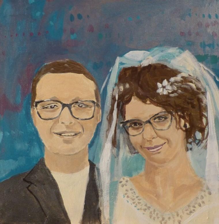 portret podwójny akryl na płótnie